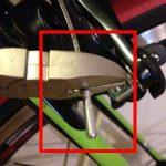 ブレーキワイヤーを手軽に短くする方法