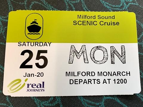 ミルフォードサウンド チケット